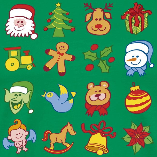 All traditional Christmas characters and symbols