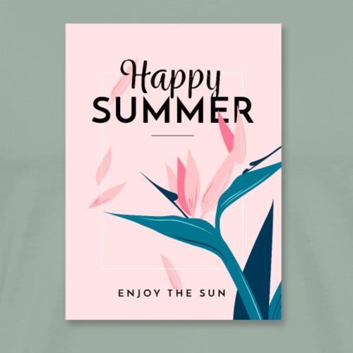 Happy Summer Flowers Shirts - Men's Premium T-Shirt