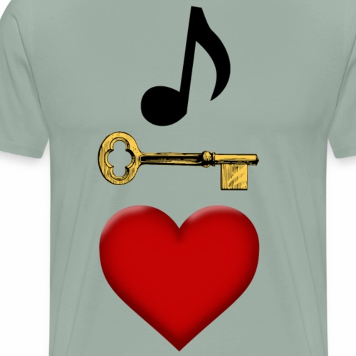Music is Key to My Heart - Men's Premium T-Shirt