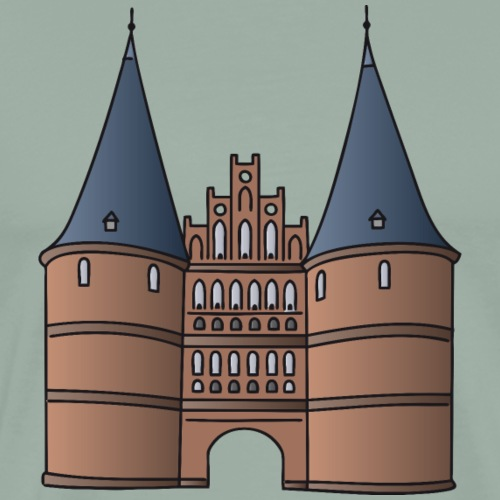 Citygate, Holstentor Lübeck - Men's Premium T-Shirt