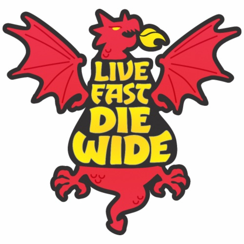 Live Fast Die Wide (red) - Men's Premium T-Shirt