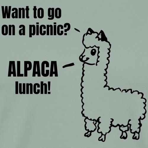 Alpaca lunch - Men's Premium T-Shirt