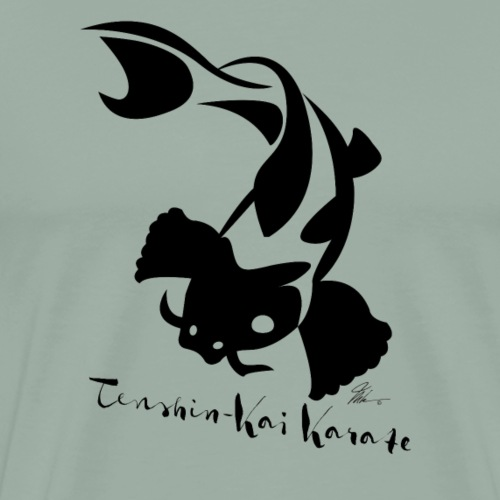 Tenshin-kai - T-Shirt - Koi Fish - Men's Premium T-Shirt