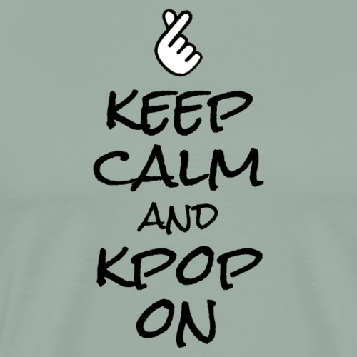 Keep_Calm_And_Kpop_On_Graphic_T-shirt - Men's Premium T-Shirt
