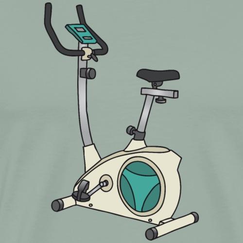 Hometrainer, exercise bike, ergometer - Men's Premium T-Shirt