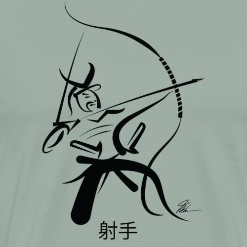 Samurai Archer - BLK - Men's Premium T-Shirt