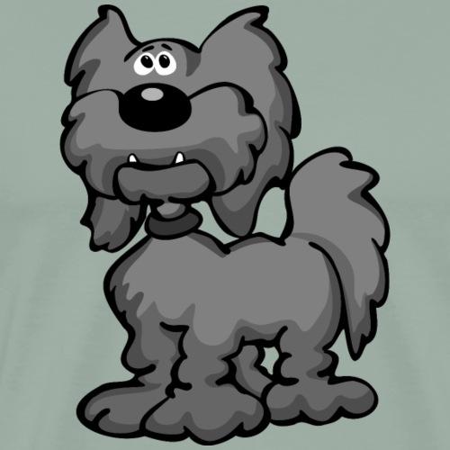 Aussiedoodle Dog Cartoon - Men's Premium T-Shirt