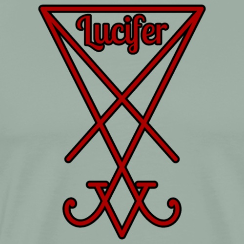 Seal of Lucifer - red with text - Men's Premium T-Shirt