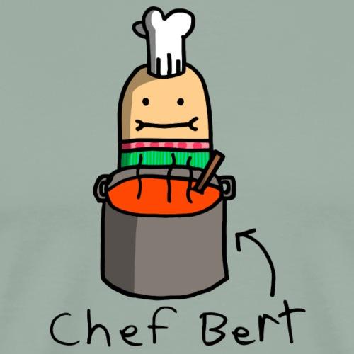 Chef Bert, Black Outline (tshirts) - Men's Premium T-Shirt