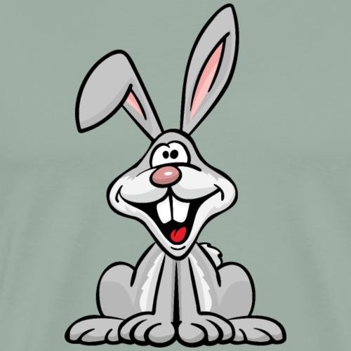 Silly Bunny Rabbit Cartoon - Men's Premium T-Shirt