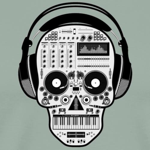 rap music skeleton head - Men's Premium T-Shirt