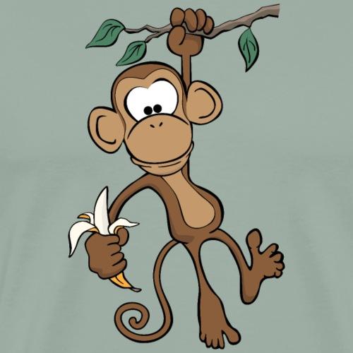 Cute Cartoon Monkey - Men's Premium T-Shirt