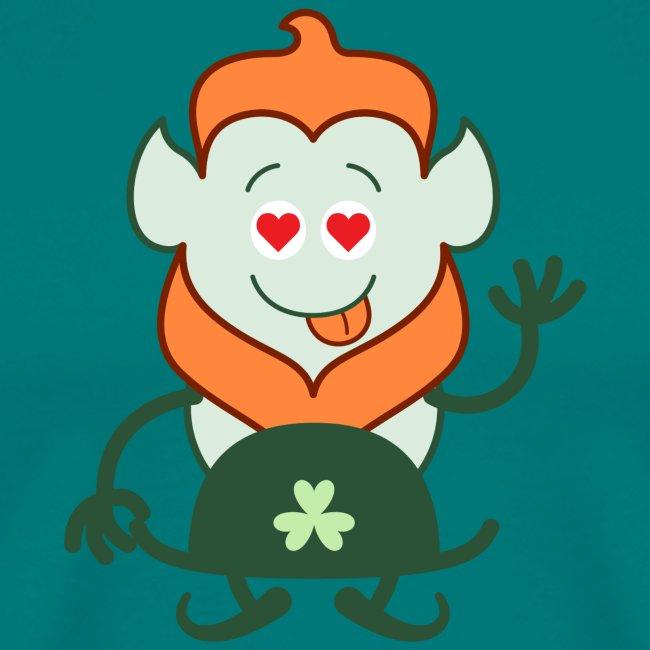 Naked Saint Patrick's Day Leprechaun in love