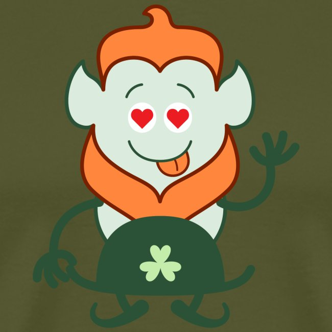 Naked Saint Patrick's Day Leprechaun in love