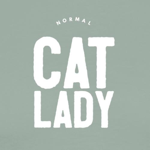 Normal Cat Lady black tshirt - Men's Premium T-Shirt