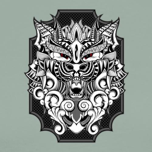 Barbarian Wolf - Men's Premium T-Shirt