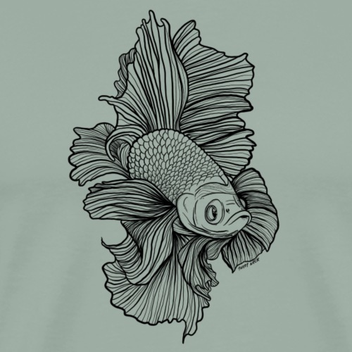 Fighting Fish Betta - Men's Premium T-Shirt