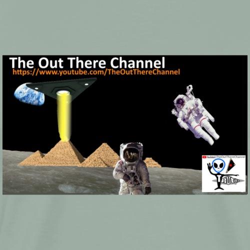 UFO Pyramids2019 New Logo with Back Crew Logo - Men's Premium T-Shirt