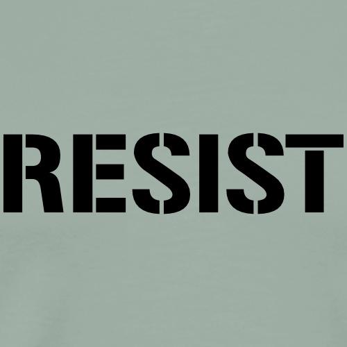 RESIST stencil font - Men's Premium T-Shirt