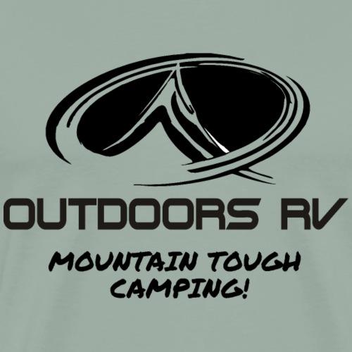 Mountain Camping / Titanium Series - Men's Premium T-Shirt