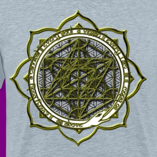 Energy Immersion, Metatron's Cube Flower of Life - Men's Premium T-Shirt