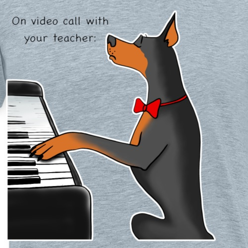 On video call with your teacher - Men's Premium T-Shirt