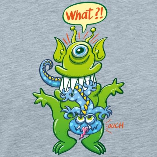 Big monster eat little monster - Men's Premium T-Shirt