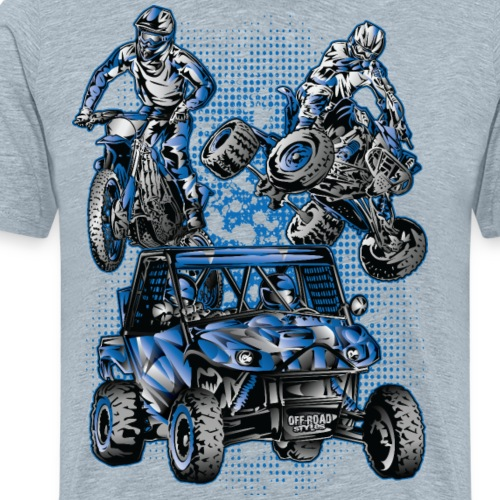 Moto Extreme Sports Blue - Men's Premium T-Shirt