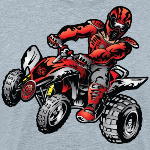 Quad Racer Stunt Rider - Men's Premium T-Shirt