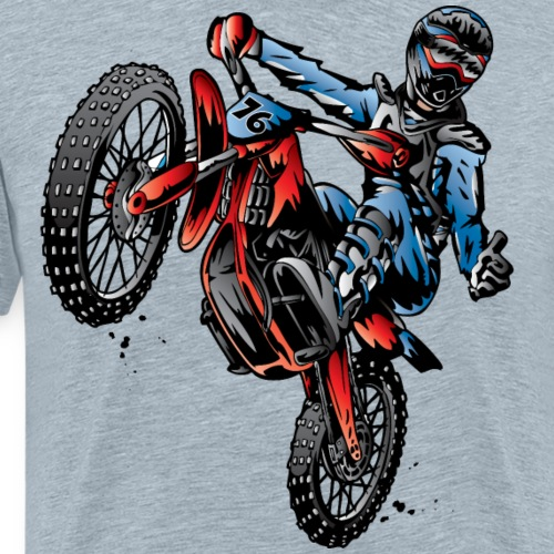 Motocross Dirt Bike Stunt Rider - Men's Premium T-Shirt