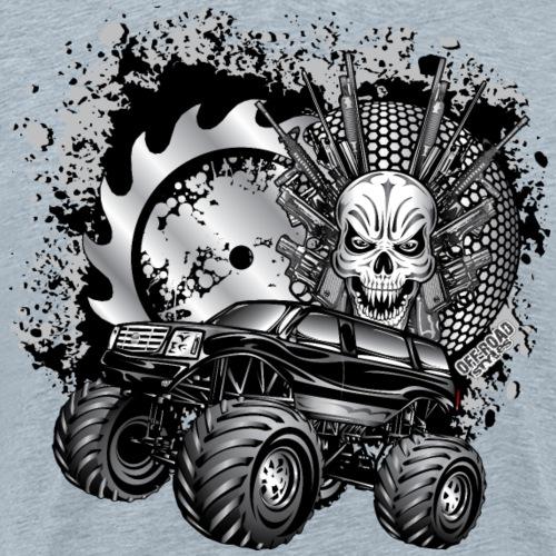 Metallic Monster Truck - Men's Premium T-Shirt