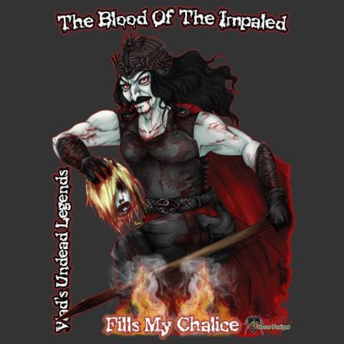 Vlad The Impaler CloseUp Flamed - Men's Premium T-Shirt