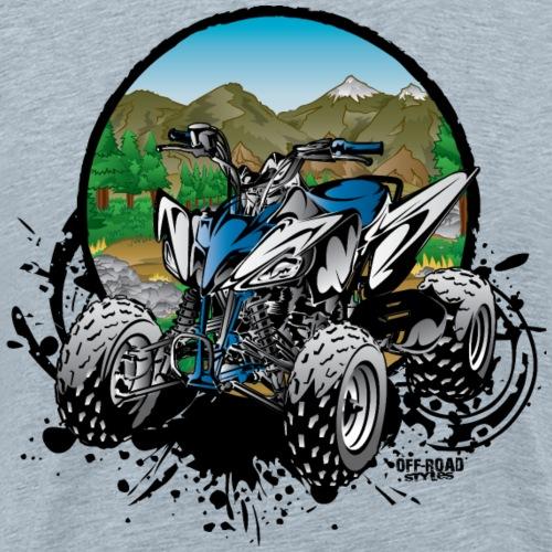 Blue Forest Quad - Men's Premium T-Shirt