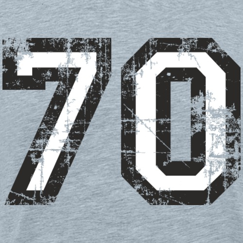 Number 70 Seventy 70th Birthday (Black&White) - Men's Premium T-Shirt