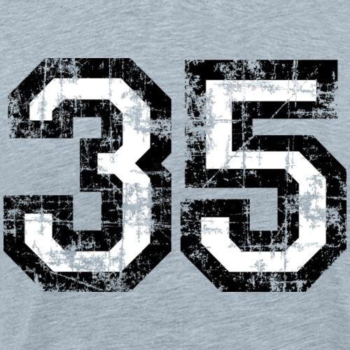 Number 35 Thirty-Five 35th Birthday (Black&White) - Men's Premium T-Shirt