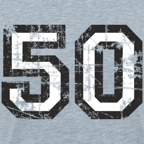 Number 50 Fifty 50th Birthday (Black&White) - Men's Premium T-Shirt