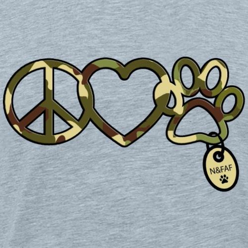 nafaf camo peacelovepaw symbols - Men's Premium T-Shirt