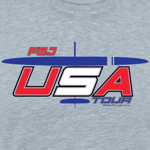 F5J USA TOUR + plane - Men's Premium T-Shirt