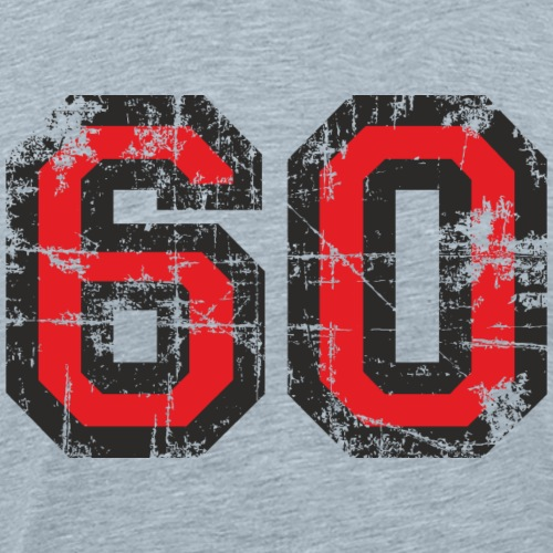 Number 60 Sixty 60th Birthday (Black&Red) - Men's Premium T-Shirt