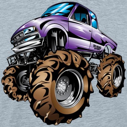 Purple Mud Truck Cartoon - Men's Premium T-Shirt