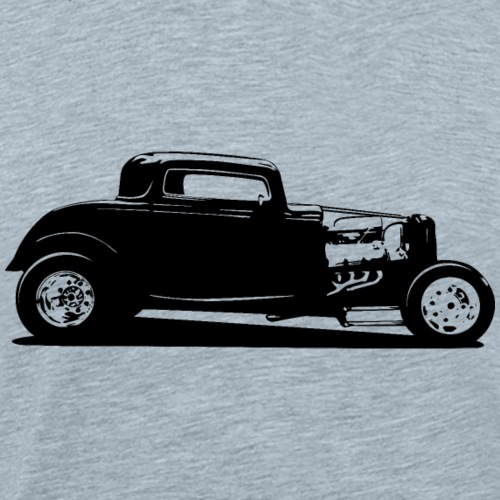 Classic American Thirties Hot Rod Car Silhouette - Men's Premium T-Shirt