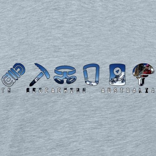 T5 Geocaching AU Snow - Men's Premium T-Shirt