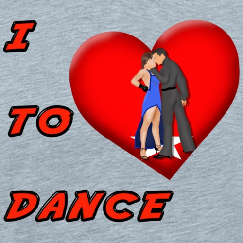 I Heart Dance - Men's Premium T-Shirt