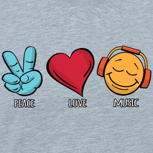 Peace Love Music - Men's Premium T-Shirt