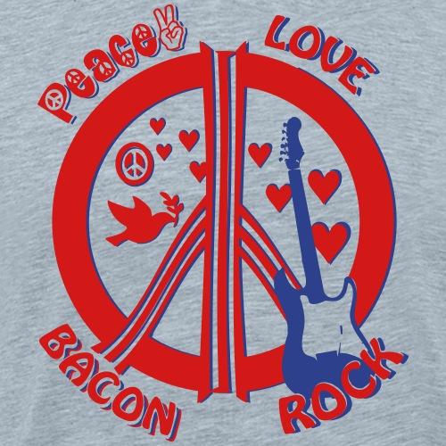 Peace Love Bacon Rock 2C - Men's Premium T-Shirt