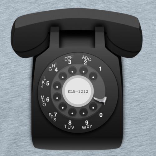 Rotary phone (black) - Men's Premium T-Shirt