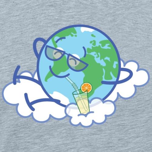 Mischievous Earth taking a well deserved break - Men's Premium T-Shirt