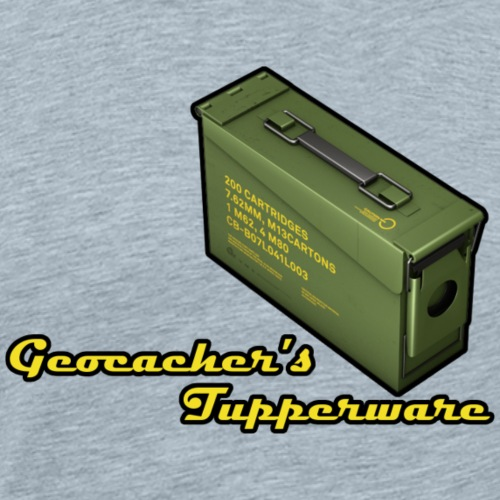Geocacher's Tupperware - Men's Premium T-Shirt