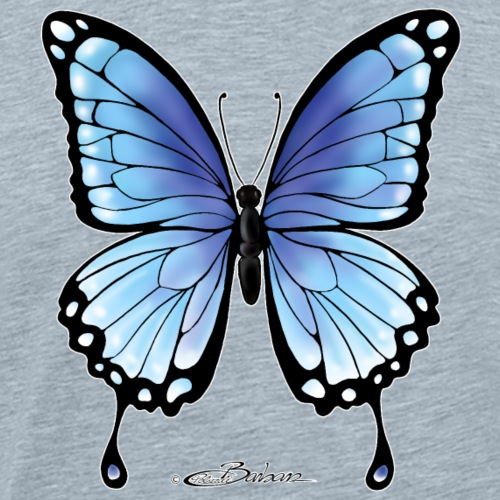 blue-butterfly-copyright- - Men's Premium T-Shirt