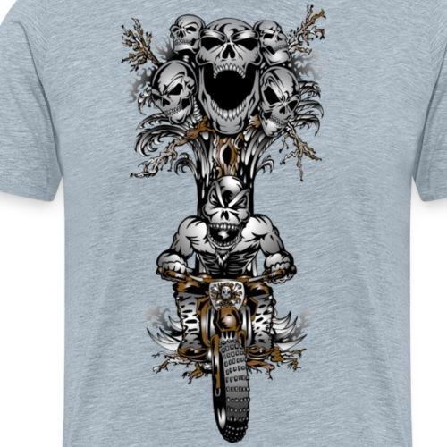 Skull-Tree Dirt Biker - Men's Premium T-Shirt